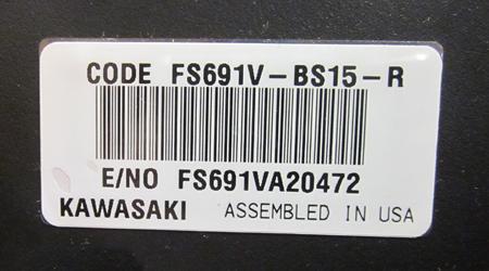 kawasaki model number locator