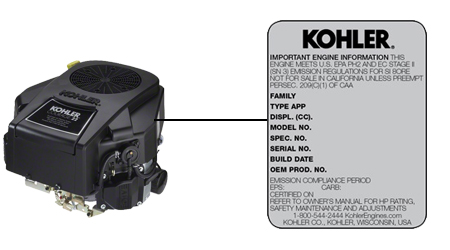 Kohler Model Locator