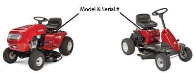 Murray Model Number Locator - How to Locate your Model and