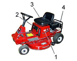 Toro Rear Engine Riding Mower Model Locator