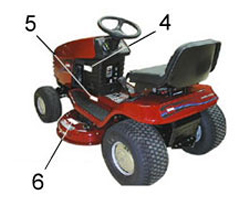 Toro Riding Mower / Tractor Model Locator