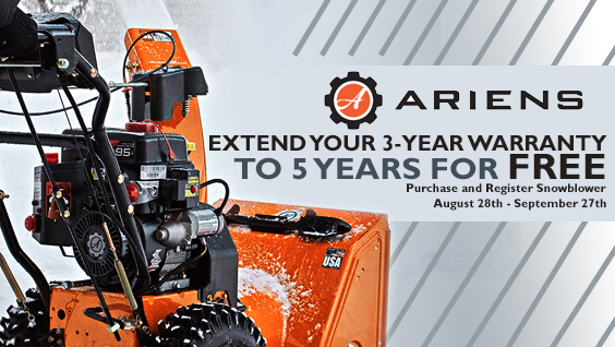 Ariens Warranty Extension Snow