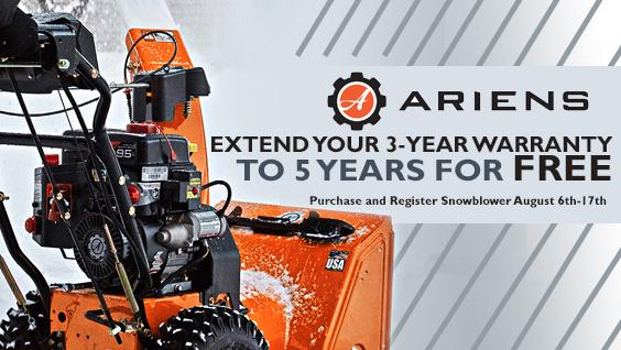 Ariens Free Extended Warranty Snow Blower