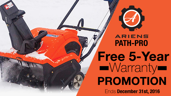 Ariens Path Pro 5 Year Warranty