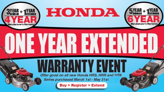 Honda Lawn Mower Extended Warranty