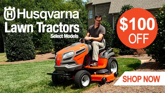 Husqvarna $100 Off Tractors