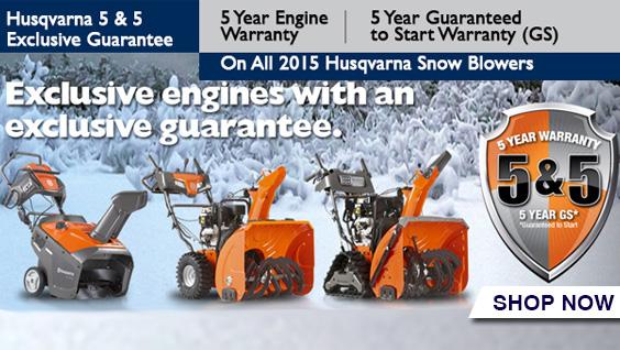 Husqvarna 5 and 5 Warranty
