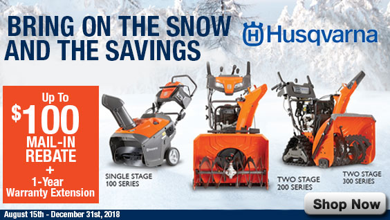 Husqvarna Snowblower Rebates