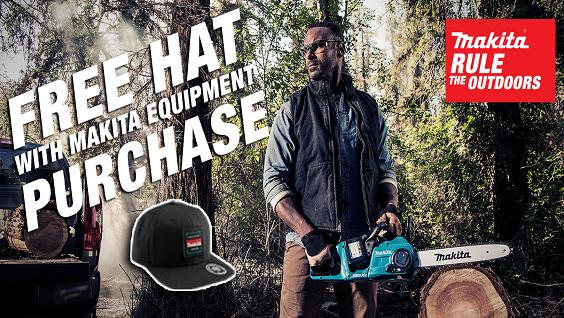 Makita Free Hat w/ Equipment Purchase