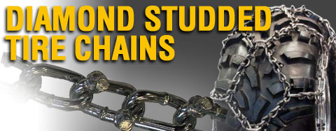 Universal - Tire Chains - ATV Diamond Studded Tire Chain