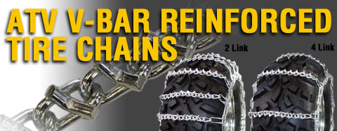 Universal - Tire Chains - ATV V-Bar Reinforced Tire Chains