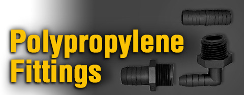 Pressure Washer Polypropylene Fittings