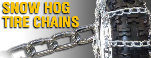 Universal - Tire Chains - Snow Hog  - Snow Blower - 2 Link Tire Chains
